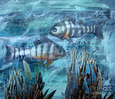 Mixed Media - Fish In Icy Water by Patricia Januszkiewicz
