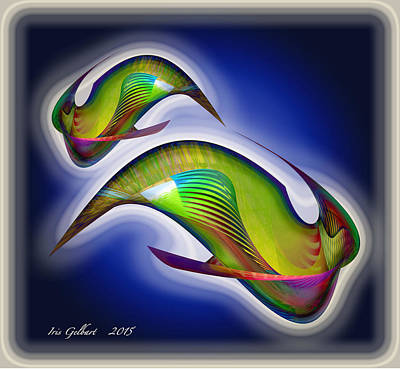 Digital Art - Fish by Iris Gelbart