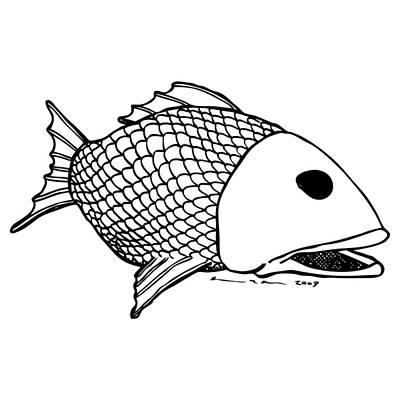 Fish Art Print by Karl Addison