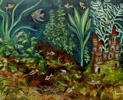 Painting - Fish Kingdom by FT McKinstry