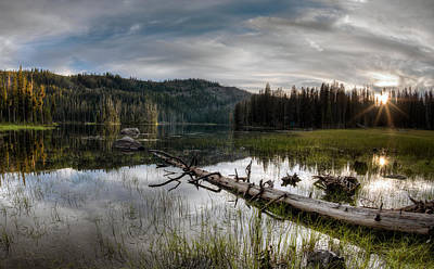 Whitmans Photograph - Fish Lake Evening by Leland D Howard