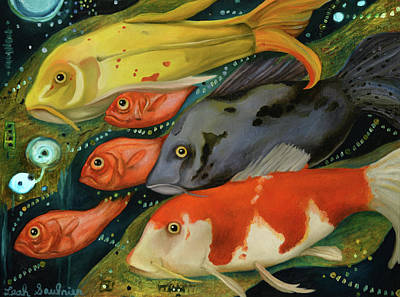 Fish Print by Leah Saulnier The Painting Maniac