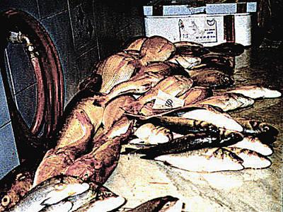 Photograph - Fish Market On The Isle Of Capri,italy by Merton Allen