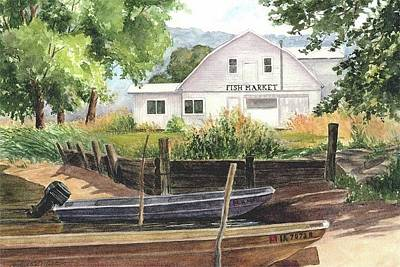 Painting - Fish Market by Phyllis Martino