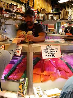 Cash Warren Photograph - Fish Market Sales by Warren Thompson