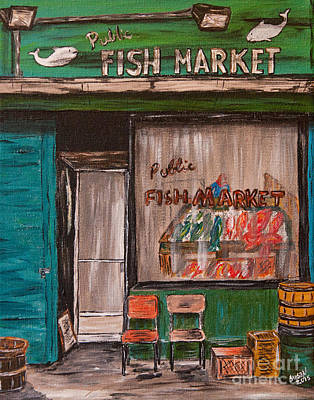 Painting - Fish Market by Susan Cliett