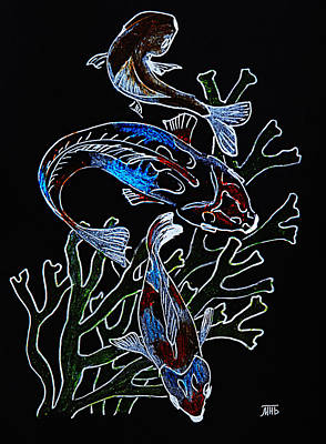 Painting - Fish by Masha Batkova