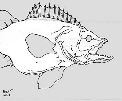 Fish Art Print by Nicholas Tullis