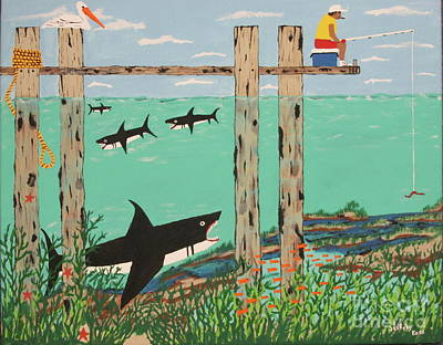 Painting - Fish Not Biting Today by Jeffrey Koss