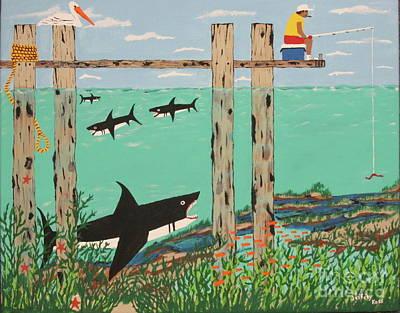 Fish Not Biting Today Original by Jeffrey Koss
