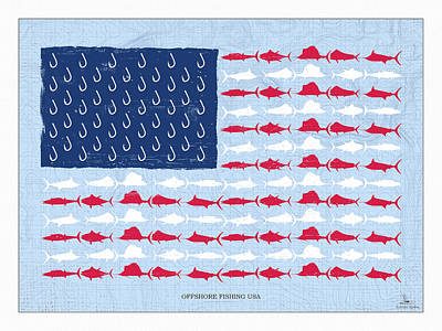 Digital Art - Fish Offshore Usa by Kevin Putman
