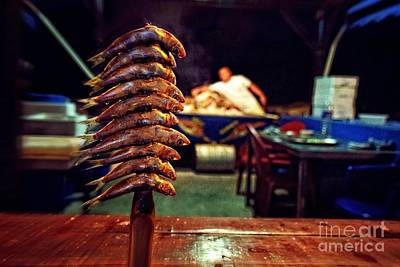 Grilled Fish Photograph - Fish On A Stick - East Malaga by Mary Machare