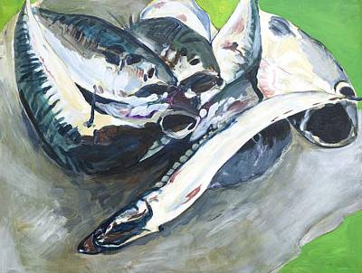 Painting - Fish On A Table by Kathleen Barnes