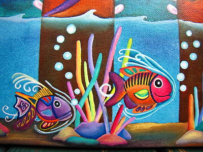 Fish On Parade Two Art Print by Lori Miller