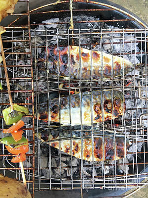 Photograph - Fish On The Bbq by Tom Gowanlock