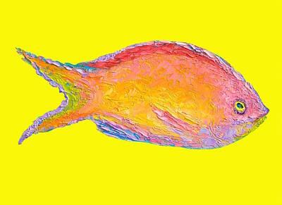 Aquarium Fish Painting - Fish Painting by Jan Matson
