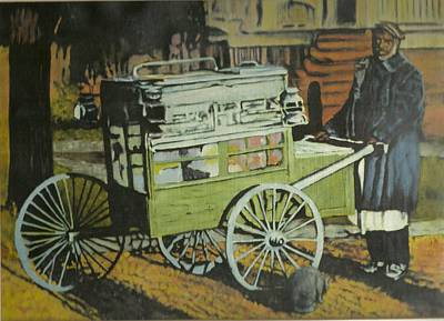Fish Peddler Art Print by Perry Ashe