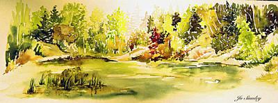 Fish Pond At Nutimik Lake Manitoba Art Print