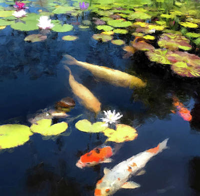 Painting - Fish Pond by Gary Grayson