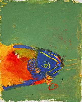 Painting - Fish Pondering The Anomaly Of Mans Anamnesis by Cliff Spohn