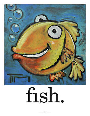 Painting - Fish Poster by Tim Nyberg