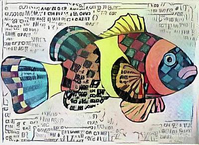 Fish Print One Art Print