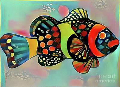 Digital Art - Fish Print Two by Nina Silver