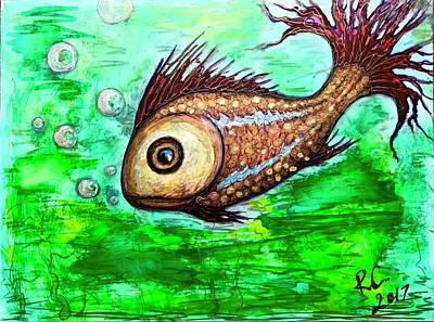 Painting - Fish by Rae Chichilnitsky
