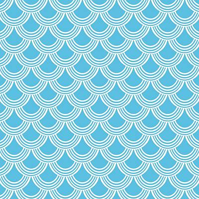 Digital Art - Fish Scale Decorative Pattern - Custom Color by Mark E Tisdale