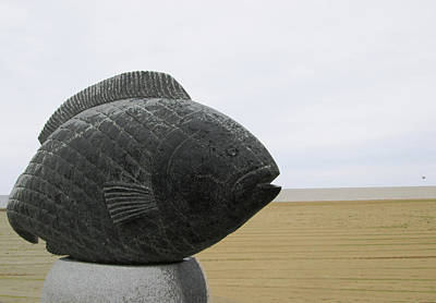 Photograph - Fish Sculpture At Hampton Beach by Mary Capriole