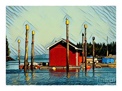 Digital Art - Fish Shack, Campobello by Art MacKay