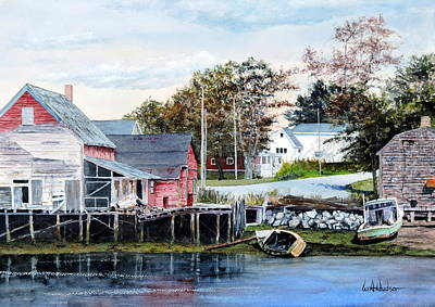 Painting - Fish Shacks by Bill Hudson