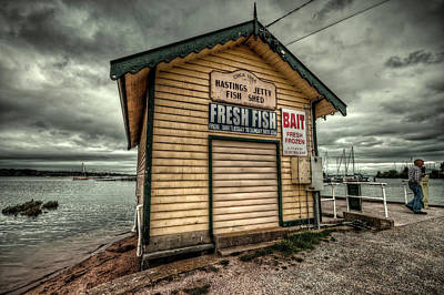 Fish Shed Art Print by Wayne Sherriff