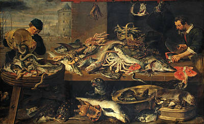 Painting - Fish Stall by Frans Snyders