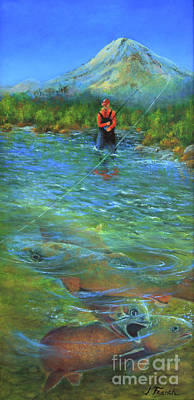 Painting - Fish Story by Jeanette French