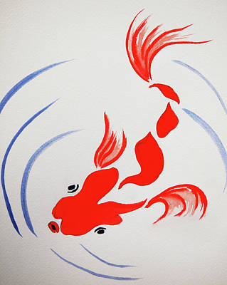 Painting - Fish Swish by Rod Stewart