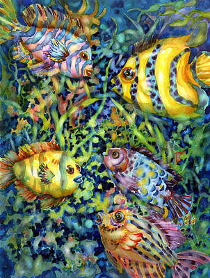 Tropical Fish Painting - Fish Tales Iv by Ann  Nicholson