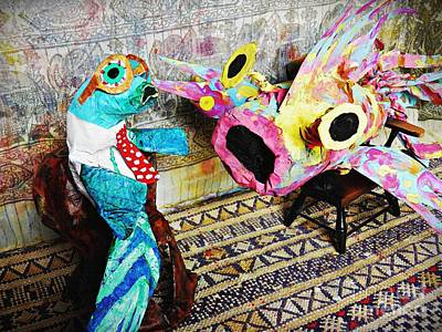Paper Mache Sculpture - Fish Therapy by Sarah Loft