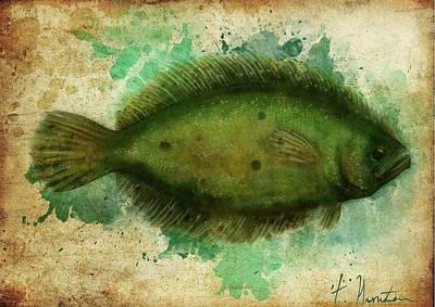 Flounder Painting - Fish by Tiffany Hunter
