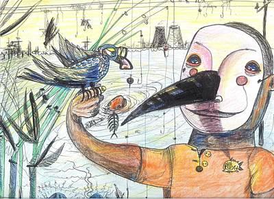 Fish Whistle Art Print by Robert Wolverton Jr