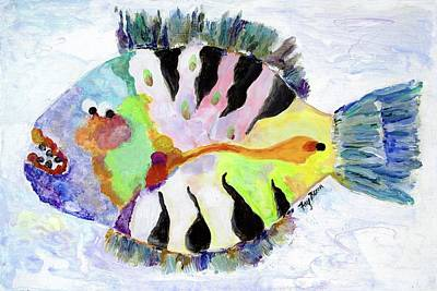 Painting - Fish With An Attitude by FayBecca Designs