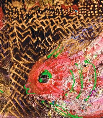 Fish With Green Lips In Fantasy Land Underwater Original