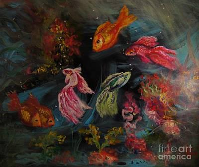 Fish Wonderland Print by Sandra Gallegos