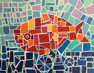Easterseals Painting - Fish-y by Ashley A