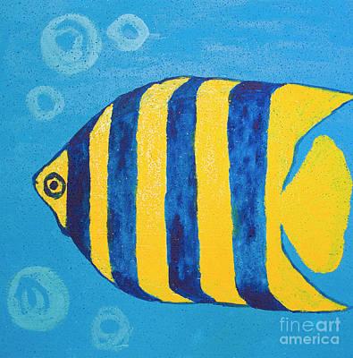 Painting - Fish Yellow-blue, Painting by Irina Afonskaya