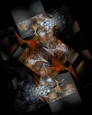 Shadow Dancing Digital Art - Fishbone Tango by Vic Eberly