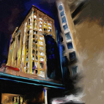 Painting - Fisher Building 533 1 by Mawra Tahreem