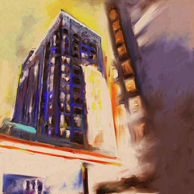 Painting - Fisher Building 534 4 by Mawra Tahreem