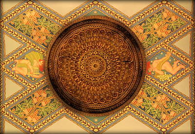 Fisher Building's Hand Painted Ceiling And Medalion  Art Print by Anita Hiltz