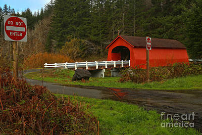 Photograph - Fisher Covered Bridge by Adam Jewell